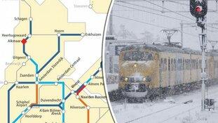 NS schrapt flink deel van dienstregeling om verwachte sneeuw