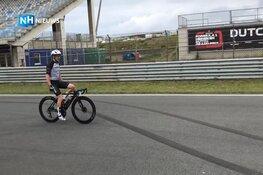 Belgische wielrenner Joris Rogiers fietst 198 rondes over circuit Zandvoort