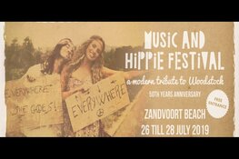 Music and Hippie Festival aan de boulevard van Zandvoort - 3 days of peace, love and music