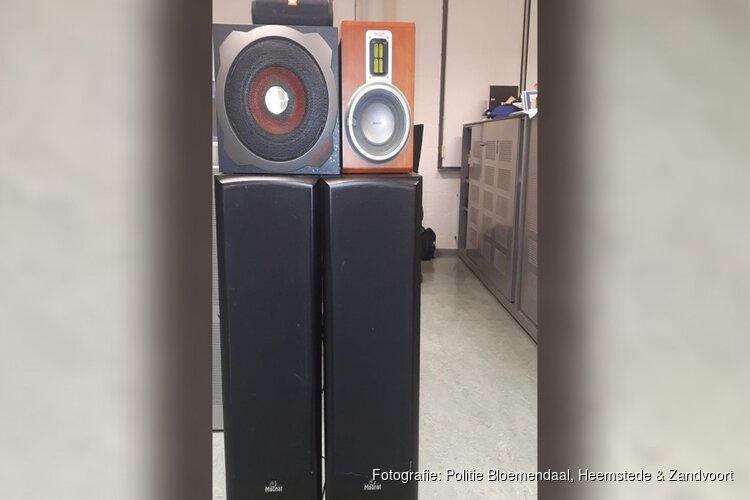 Imposante muziekboxen in beslag genomen na zoveelste melding van geluidsoverlast
