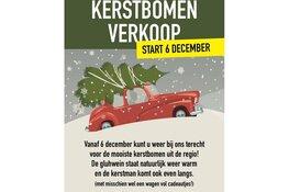Kerstbomenverkoop bij IJzerhandel Zantvoort