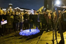 Holocaust Memorial Day op de Grote Markt in Haarlem