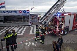 Brand in afzuiginstallatie van viskar aan de Boulevard in Zandvoort